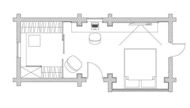 """Этот лаконичный и функциональный интерьер спальни стал отправным пунктом тотального преображения внутреннего облика загородного дома в рамках телевизионного проекта """"Дачный ответ"""""""