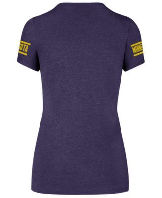 '47 Brand Women's Minnesota Vikings Ultra Club Scoop T-Shirt - Purple M