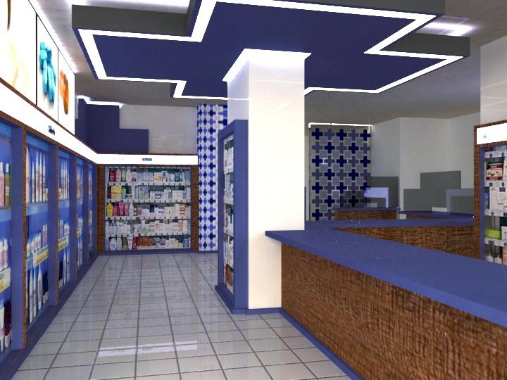 Interior farmacia dise ador ignacio stesina oficinas - Busco disenador de interiores ...