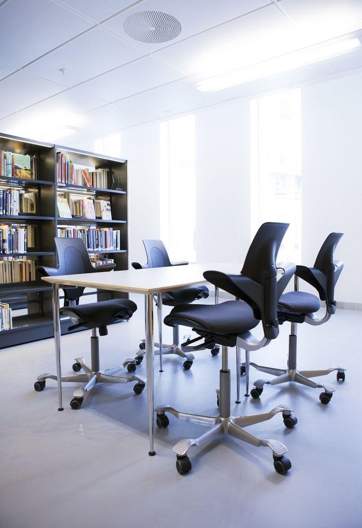 HÅG Capisco Puls in black encouraging movement while seating  #education #InspireGreatWork #design #Scandinavian