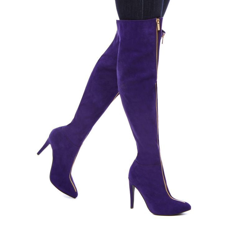 purple over the knee boots | Gommap Blog