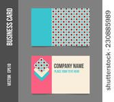 Corporate identity - business cards for company or event. Business stationery - vector template for print or web.