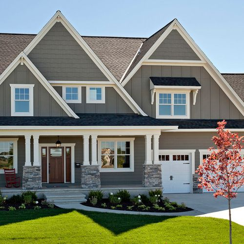 Best 25 Gray Exterior Houses Ideas On Pinterest Grey House Paint Gray House White Trim And