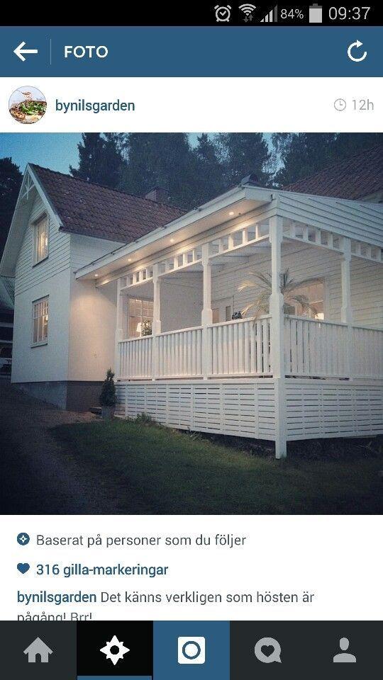 Räcke, altan, veranda, uteplats, stolpar, spjälor, kjol: