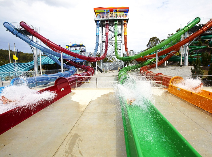 Here's the answer to today's #gcfuncation quiz! We're on the Aqualoop water slide at Wet n Wild #GoldCoast #travel