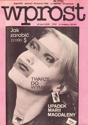 Cover of newsmagazine Wprost from 1988.