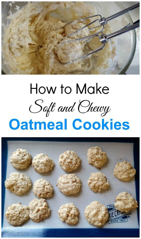 How to make soft and chewy oatmeal cookies. A perfect cookie recipe for beginner bakers. Includes a step by step guide and tips on creaming butter.