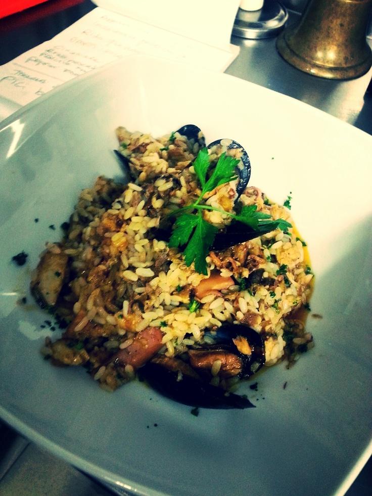 Risotto alla pescatora  #food #bagnocerboli #follonica #italianfood #foodfotografy #fishfood #risotto #riso
