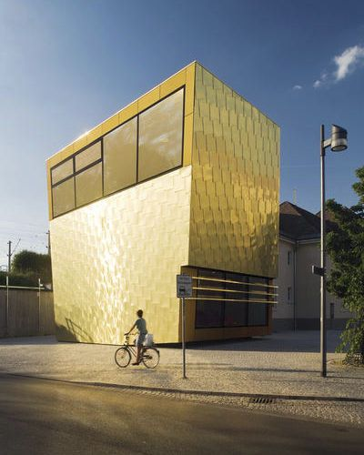 Aluminium-Fassadenverkleidung / Legierung / aus Kupfer / Matte TECU® GOLD KME