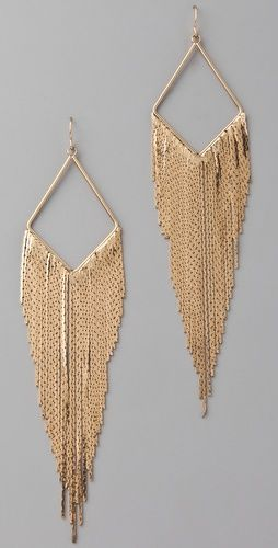 Earrings: Make a bold statement in a pair of big, gold dangling earings. You'll have heads turning with these bad boys.