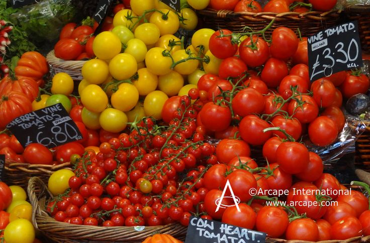 We found this fabulous display of tomatoes at the market. to be irresistible and made healthy and yummy gazpacho.  It's our favourite tomato dish, What's yours?