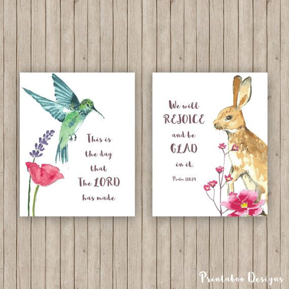 Scripture Art Printables 8x10 Download This is by PrintabooDesigns