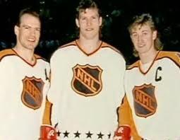 Messier, Probert & Gretzky @ 1987-88 All-Star Game