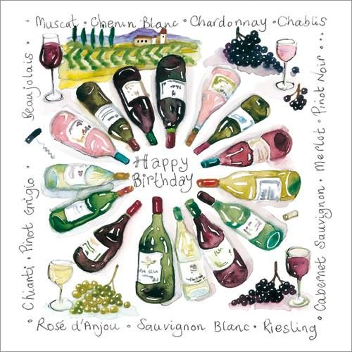 S250 Wine O'Clock.  Phoenix Trading greetings card. £1.75 or buy 10 or more cards of any design and save 20%.