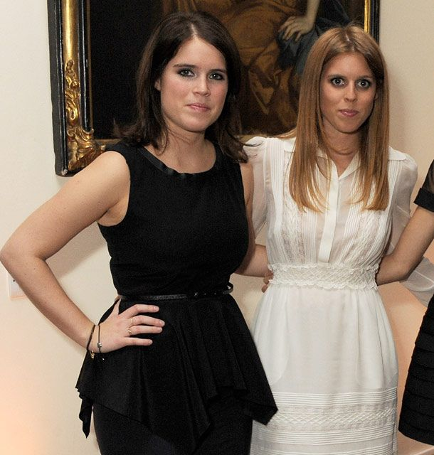 (R-L) Princesses Beatrice and Eugenie are entering the world of work as ambassadors of British trade and industry.