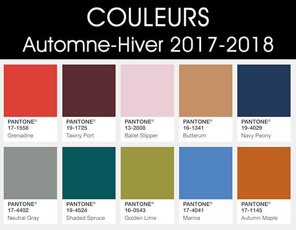 couleurs automne hiver 2017 2018 taaora blog mode tendances looks couleurs 2017 18. Black Bedroom Furniture Sets. Home Design Ideas