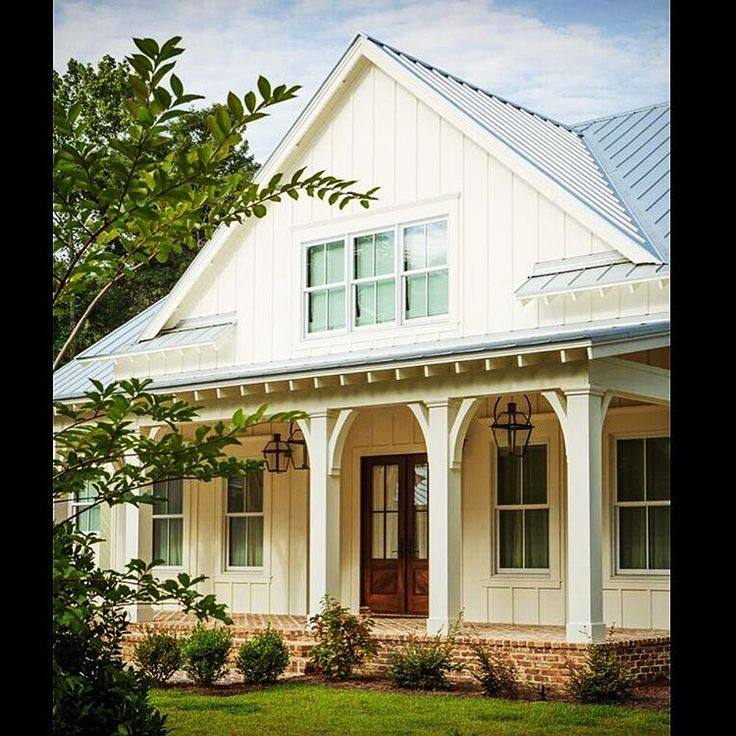 17 best images about house foundation on pinterest modern farmhouse front porches and true - Red exterior wood paint plan ...