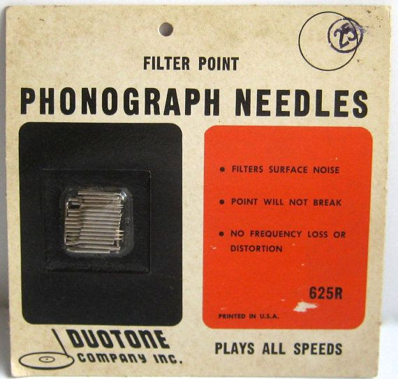 Vintage Phonograph Needles Duotone Filter by GrannysBottomDrawer