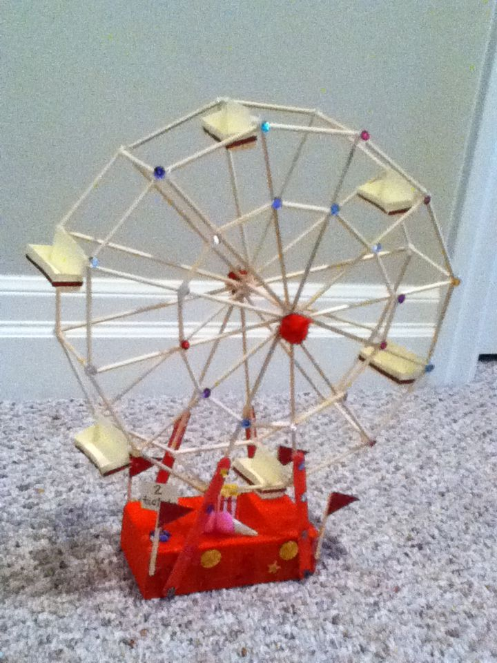 Try To Make A Ferris Wheel Out Of Kabob Skewers Crafts