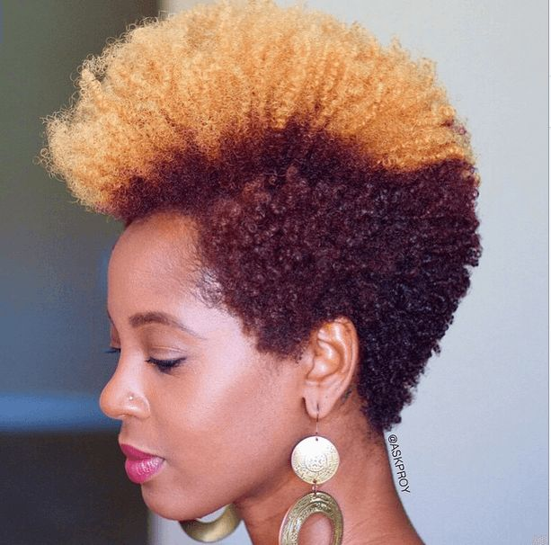 Lovely Color on Natural Hair IG:@askproy #naturalhairmag