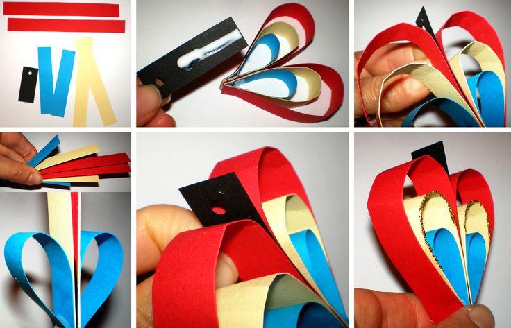 Colier-inimioară tricolor