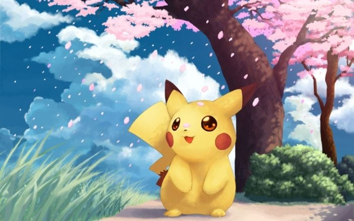 Pikachu Wall Mural Pixers We Live To Change Cute Pokemon Wallpaper Pikachu Wallpaper Cool Pokemon Wallpapers Cute anime pokemon wallpaper