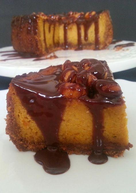 Cheesecake de Calabaza (ahuyama) Chocolate y Almendra   Cocinar en casa es facilisimo.com