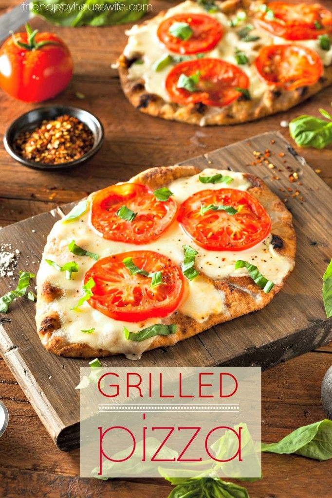 Grilling pizza is my favorite way to make pizza! There are some secrets to making perfect grilled pizza so make sure you read my tips before attempting it yourself. | The Happy Housewife