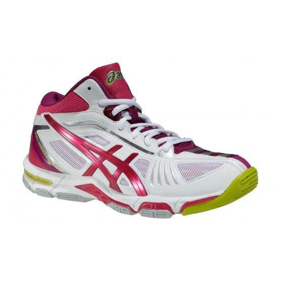 Asics Volley Elite 2 MT röplabdás cipő női fehér/lila/pink