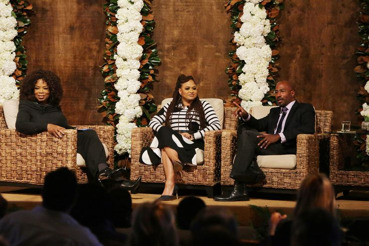 """Winfrey moderated an hourlong conversation between DuVernay and political commentator Van Jones at the home of Netflix chief Ted Sarandos, who hosted the event with wife Nicole Avant under two tennis-court-sized tents in their backyard.  Footage from Trump's campaign rallies appears in """"13th,"""" which connects the criminalization and jailing of black men in jail to a provision of the 13th Amendment that prohibits slavery except as a punishment for crime.  Available now on Netflix, the film is…"""