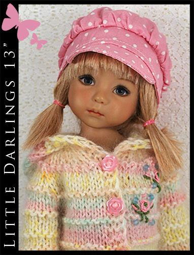 "OOAK Pastels Outfit for Little Darlings Effner 13"" by Maggie & Kate Create"