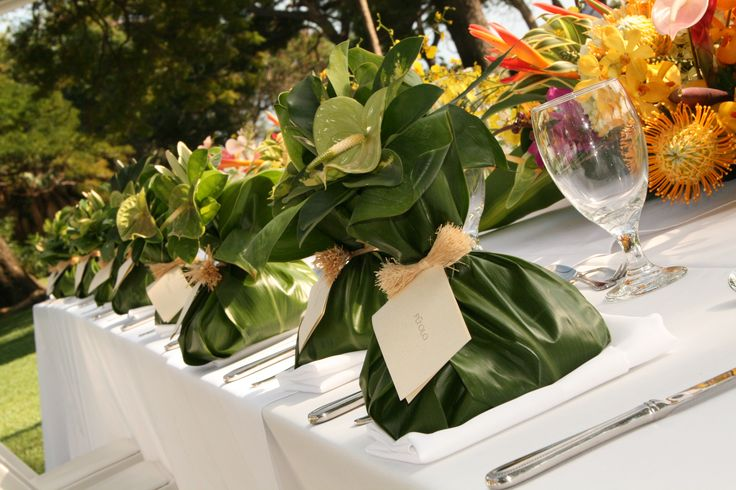 Traditional Hawaiian Wedding Gifts: Our Medium Sized Pu'Olos (Hawaiian Gift Basket) At Each