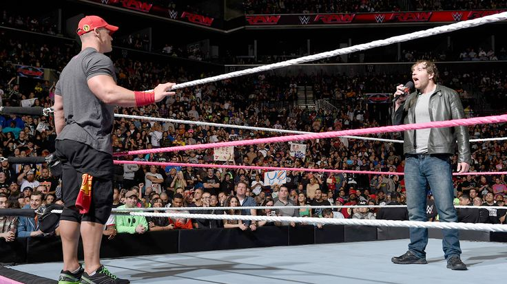 Raw 10/6/14: Dean Ambrose and John Cena have a heated war of words