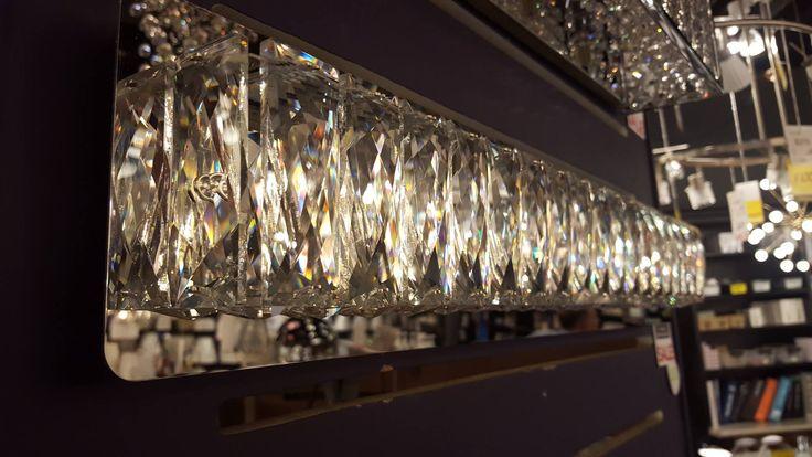 #Kuzco #LED #crystal #bathroom #lights available at #LivingLIGHTING #showroom in #RichmondHill #Ontario