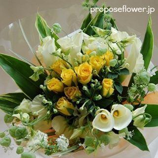 #花#花束#ブーケ#黄色い薔薇#花が好き