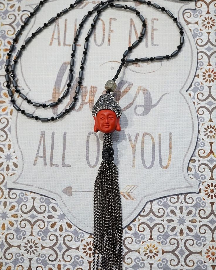 Buddha necklace, Boho chic necklace, Bohemian jewelry