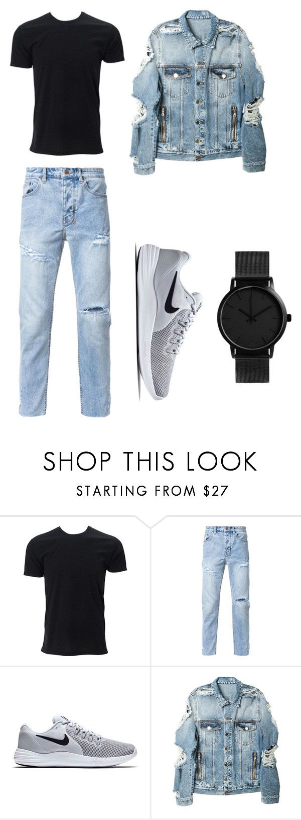 """boored"" by tiyati on Polyvore featuring Simplex Apparel, Ksubi, NIKE, Balmain, men's fashion and menswear"