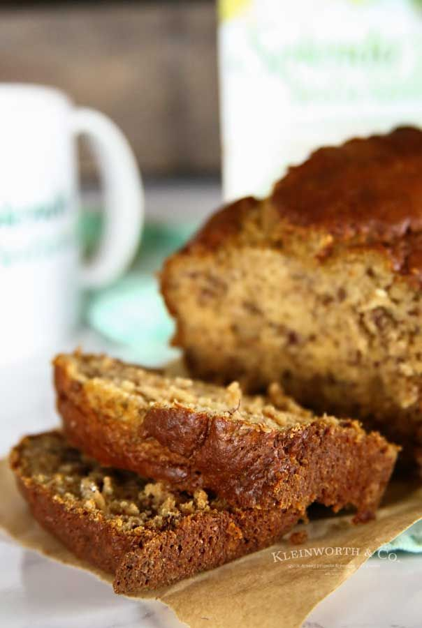Buttermilk Banana Bread Is Made With Unsweetened Applesauce And Splenda Naturals Making It A Great Breakfast Recipe Buttermilk Banana Bread Banana Bread Bread