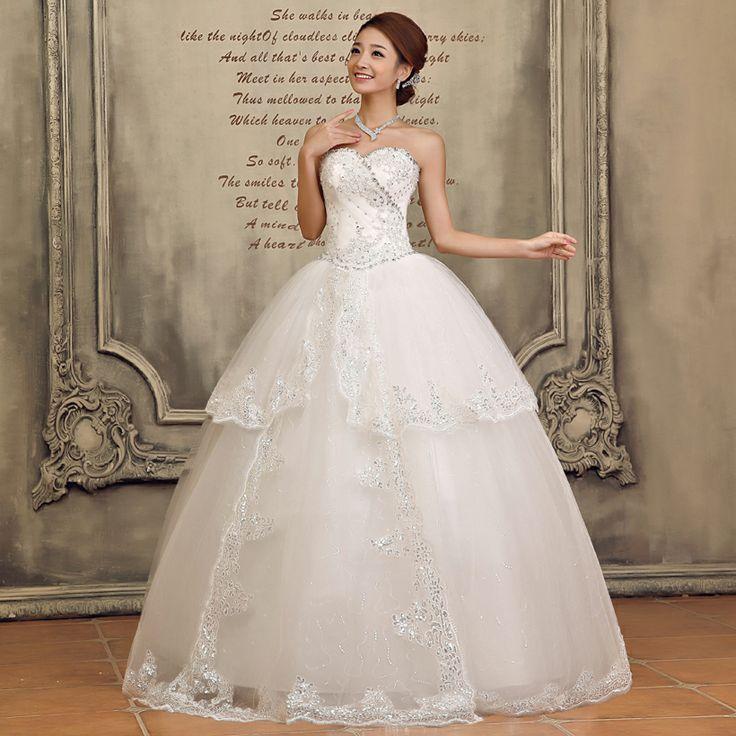 2013 Nouvelle robe de mariée bustier de tutu de princesse douce en dentelle