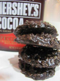 Running Upward: Dark Chocolate Peanut Butter No-Bake Cookies