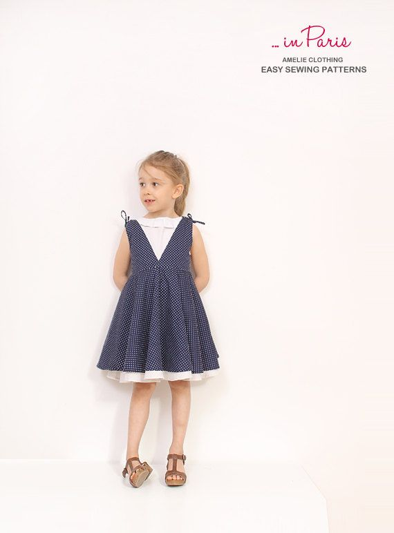 Adria full circle dress pattern toddler dress by AmelieClothing