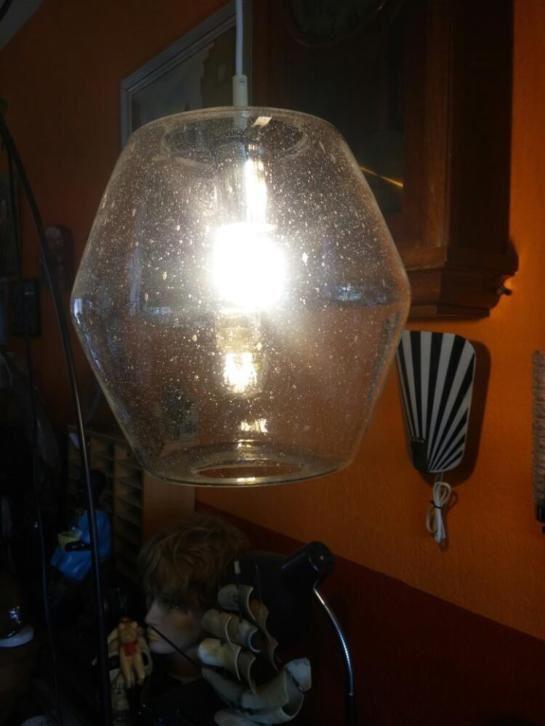 Vintage hanglamp Raak Amsterdam Venetiaans glas.jaren 70.