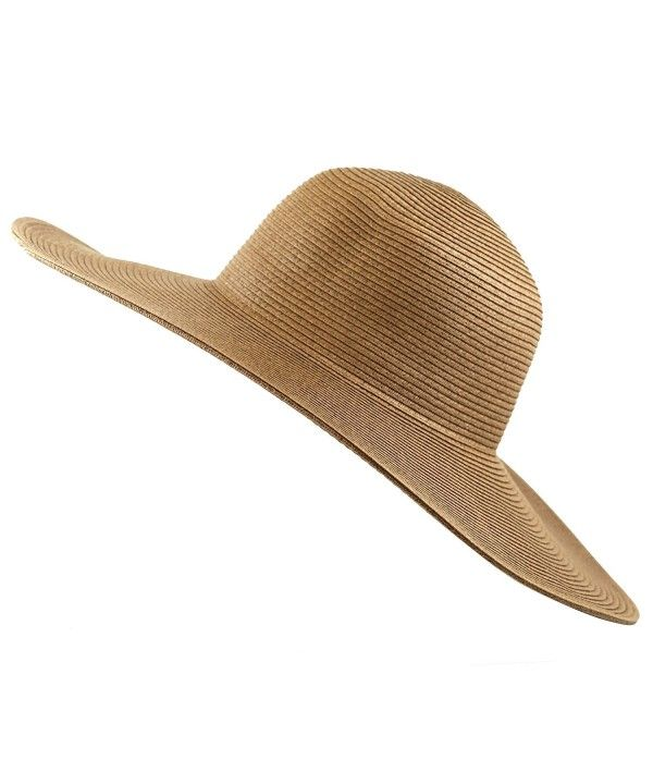 Women S Large Wide Brim Floppy Beach Sun Visor Shade Straw Hat Cap Brown Cb12htupe5l With Images Wide Brimmed Summer Hats Beach Straw Hat