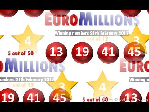 EuroMillions results: Winning numbers Tuesday 21th February 2017 - http://LIFEWAYSVILLAGE.COM/lottery-lotto/euromillions-results-winning-numbers-tuesday-21th-february-2017/