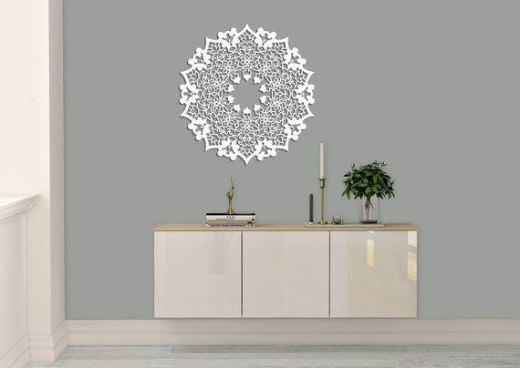 3d Azurowa Dekoracja Scienna Perska Mandala Panel Dekoracyjny Obraz Drewniany Dekoracja Salonu Ozdobna Grafika Dekoracyjna Rozeta Stylish Wall Decor Wall Decor Wall Graphics