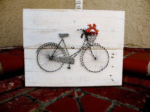 bicycle String Art | Vintage Bicycle String Art