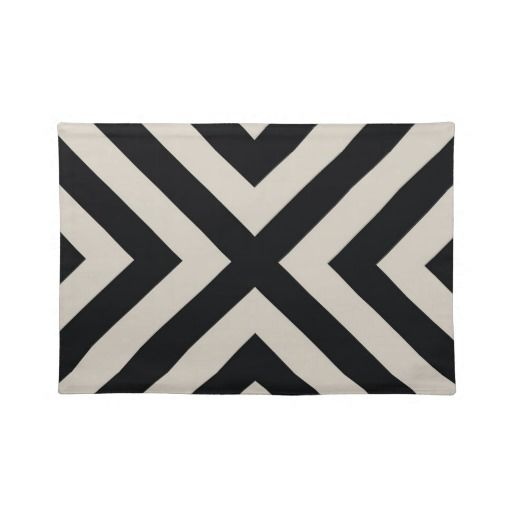 black and white modern placemats spaces and gems modern placemats white placemats home decor. Black Bedroom Furniture Sets. Home Design Ideas