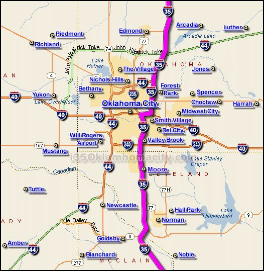 Best Interstate Images On Pinterest Maps Vacation Ideas - Oklahoma highway map
