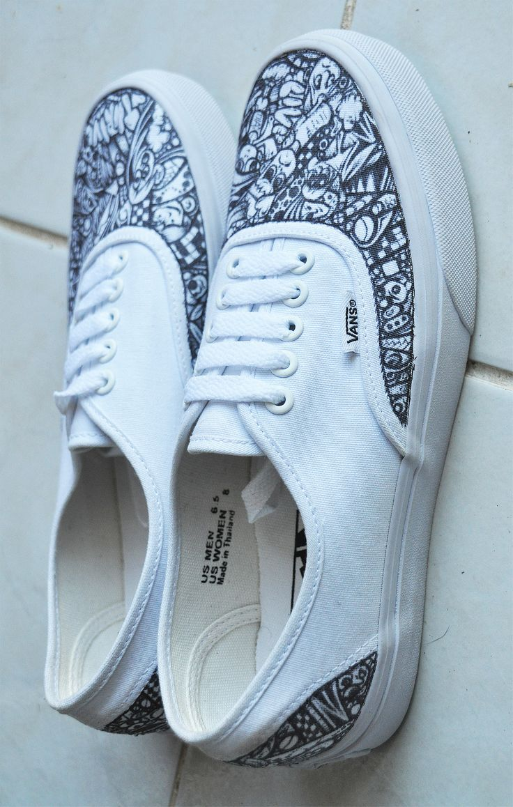 F G Custom Vans ShoesSharpie