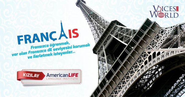 Ankara Fransızca KursuAmerican LIFE Dil Okulları Ankara Kızılay Şubede Fransızca Grup ve Özel DersleriFransızca öğrenmek, var olan Fransızca dil seviyesini korumak ve ilerletmek isteyen öğrencilerimiz için açılacak olan Ankara Fransızca Kursu grup derslerimizde sınıflarımız maksimum 12 kişiliktir. Fransızca eğitiminde toplamda 7 seviyeden oluşan kur sistemi ile öğrenciler dili